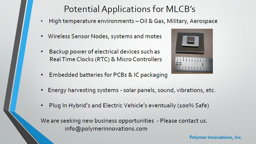 MLCB Potential Applications